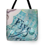New Uk Five Pound Note Tote Bag