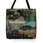 History Of Bristol Tn/va Tote Bag