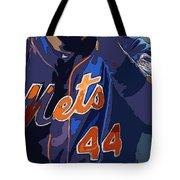 New York Mets Baseball Team And New Typography Tote Bag
