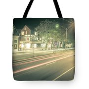 Newport Rhode Island City Streets In The Evening Tote Bag