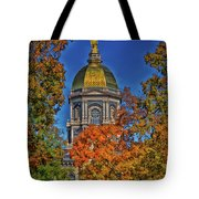 Notre Dame's Golden Dome Tote Bag