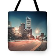 November, 2017, Charlotte, Nc, Usa - Early Morning In The City O Tote Bag