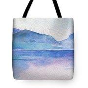 Ocean Watercolor Hand Painting Illustration. Tote Bag