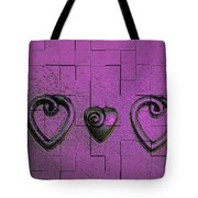 3 Of Hearts Tote Bag