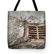 Old Rusty Street Grate Near The Sea In Cres Tote Bag