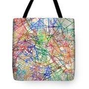 Paris France Street Map Tote Bag by Michael Tompsett