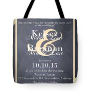 Personalized Wedding Invitation Tote Bag