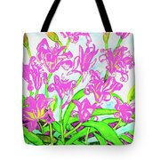 Pink Daily Lilies Tote Bag