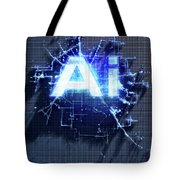 Pixel Artificial Intelligence Tote Bag