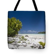 Polynesian Beach With Palms Tote Bag
