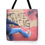 Private Parking. Tote Bag