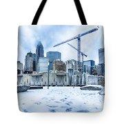 Rare Winter Weather In Charlotte North Carolina Tote Bag