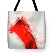 Red Flag On Black Background Tote Bag