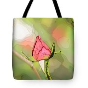 Red Garden Rose Bud Tote Bag