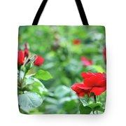 Red Roses Garden Spring Season Tote Bag