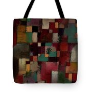 Redgreen And Violet-yellow Rhythms Tote Bag