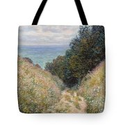 Road At La Cavee. Pourville Tote Bag