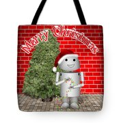 Robo-x9 Wishes A Merry Christmas Tote Bag