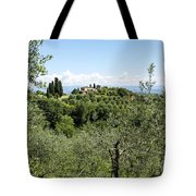 Rolling Green Hills With Trees Tote Bag
