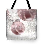 Rose Gold Christmas Baubels Tote Bag