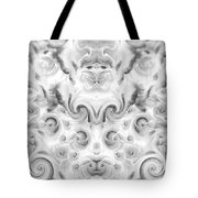 Roses Tapestry And Curls Tote Bag