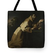 Saint Francis In Meditation Tote Bag