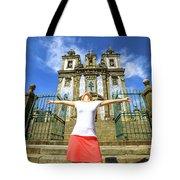 Saint Ildefonso Church Enjoying Tote Bag