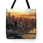 San Francisco Financial District Skyline Tote Bag
