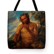 Satyr Playing The Pipe Tote Bag