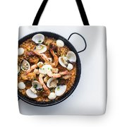 Seafood And Rice Paella Traditional Spanish Food Tote Bag
