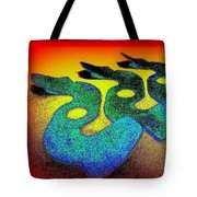 3 Serpents In The Sand  Tote Bag