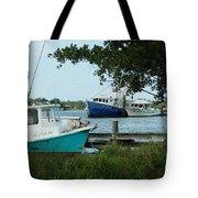 3 Shrimp Boat At Billys Tote Bag