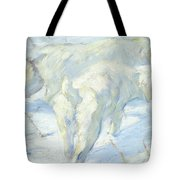 Siberian Dogs In The Snow Tote Bag