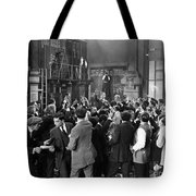 Silent Film Still: Crowds Tote Bag