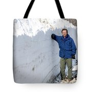 Snow By The Roadside Tote Bag
