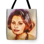 Sophia Loren, Vintage Hollywood Actress Tote Bag