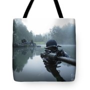 Special Operations Forces Combat Diver Tote Bag by Tom Weber
