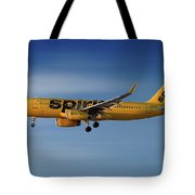 Spirit Airlines Airbus A320-232 Tote Bag