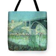 Spring Night Harlem River Tote Bag