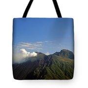 Stromboli Volcano On The Island Of Stromboli Tote Bag
