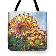 3 Sunflowers Tote Bag by Nadi Spencer