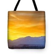 Sunrise Over Colorado Rocky Mountains Tote Bag
