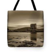 Sunset Over Castle Stalker,  Scotland, United Kingdom Tote Bag