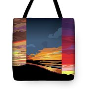 3 Sunsets Tote Bag