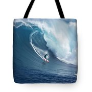 Surfing The Infamous Jaws Tote Bag