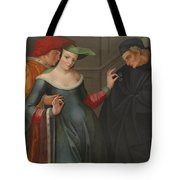 The Woman Between Two Ages Tote Bag