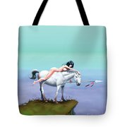 3 The Woman In The Pond Tote Bag