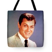 Tony Curtis Vintage Hollywood Actor Tote Bag