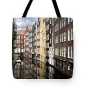 Traditional Canal Houses In Amsterdam. Netherlands. Europe Tote Bag
