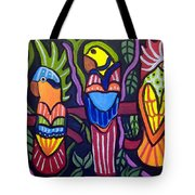 3 Tropical Birds Tote Bag